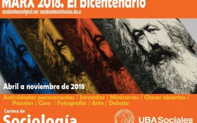 """Jornadas """"Marx 2018. El bicentenario"""""""