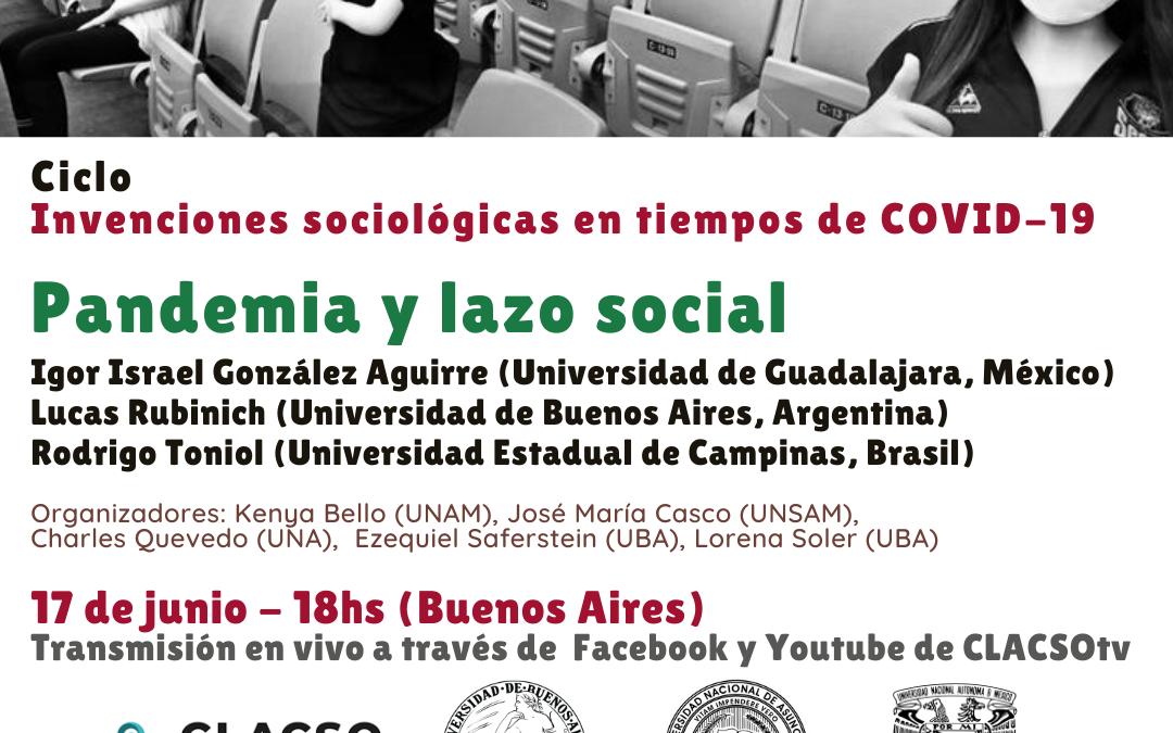 """Ciclo""""Invenciones sociológicas en tiempos de COVID-19"""""""